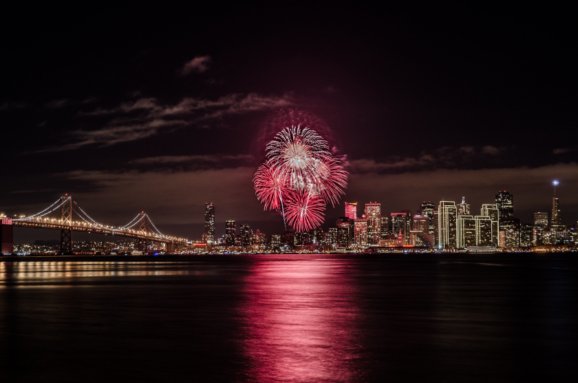 Admirer le feu d'artifice pour le nouvel an à San Francisco